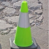 Lime-Green Traffic Cones Reflective Collar 18""